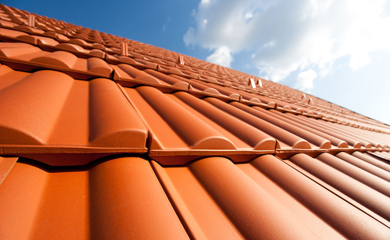 new red tiled roof