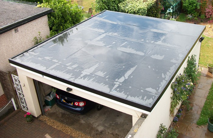 new flat garage rubber roof in alloa